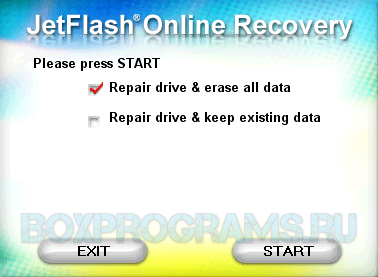 JetFlash Online Recovery на русском языке