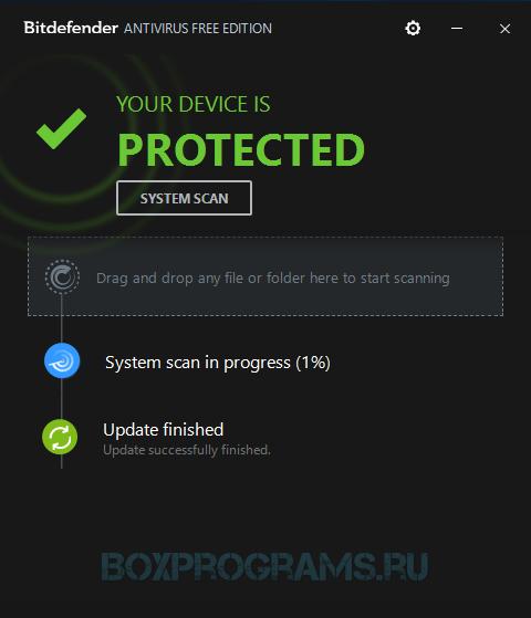 BitDefender Antivirus Free Edition на русском языке