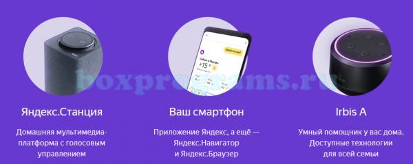 Яндекс Алиса для разных устройств