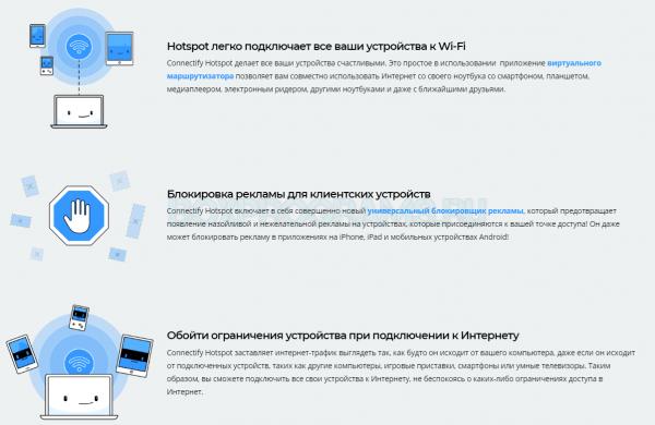 Connectify Hotspot скачать бесплатно русская версия