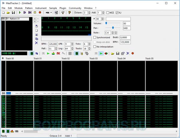 MadTracker для Windows 7, 8, 10, XP, Vista