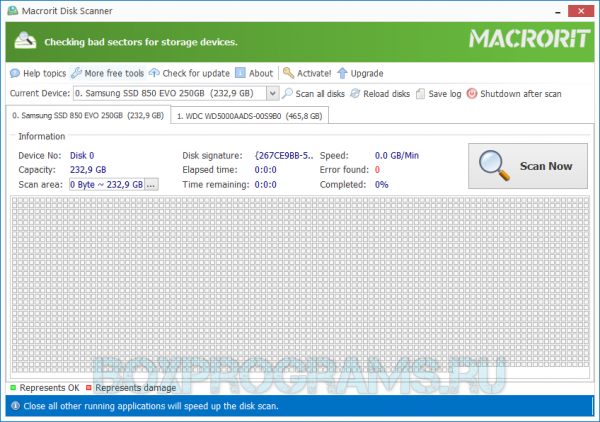 Macrorit Disk Scanner русская версия