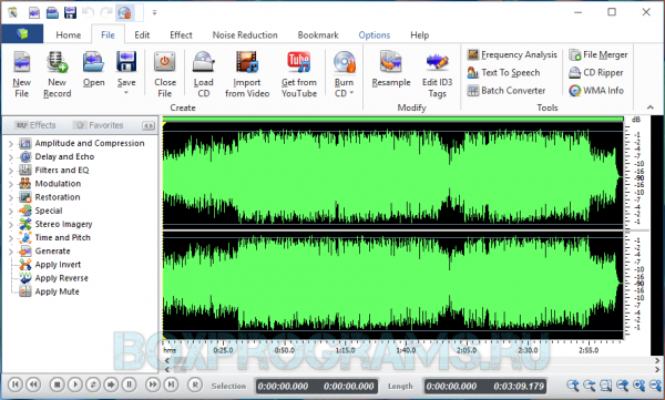 Swifturn Free Audio Editor русская версия