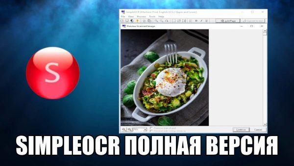 Обзор программы SimpleOCR на русском языке