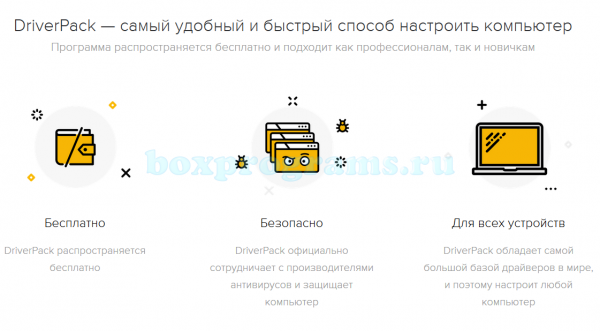 Функции Драйвер Пак Солюшен на русском