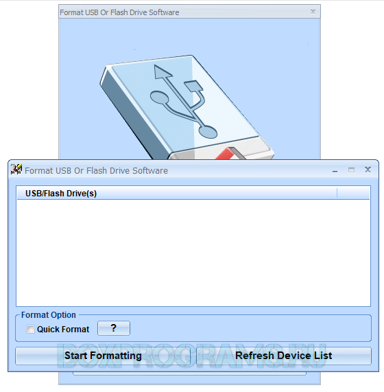 Format USB Or Flash Drive Software на русском языке