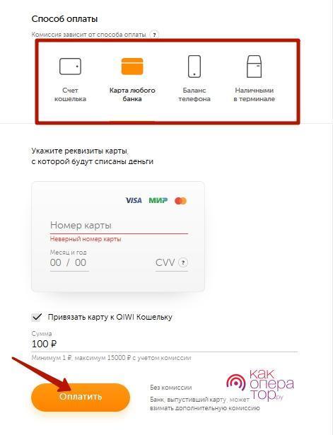 Оплата электронными деньгами
